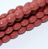 50 Czech Rice Pearls 6 x 4 mm Light Cranberry 48185